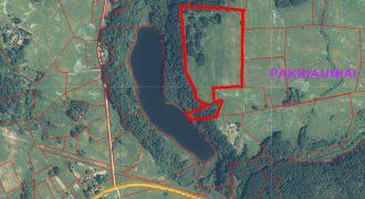 Rokiškio r. Obelių sen. Tilvikų kaimas 10,42 ha sklypas su ežero pakrante